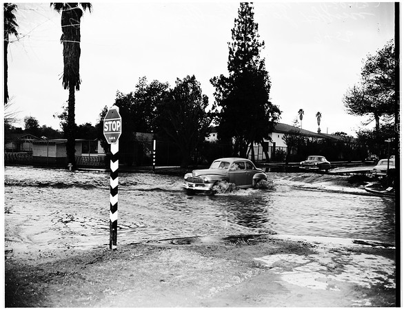 Storm cleanup, 1952