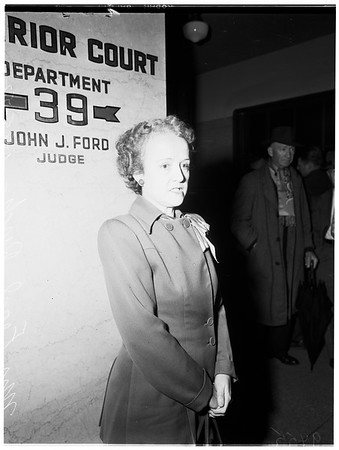 Divorce forgery trial, 1952