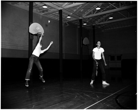 Pasadena High Schools badminton tournament, 1952