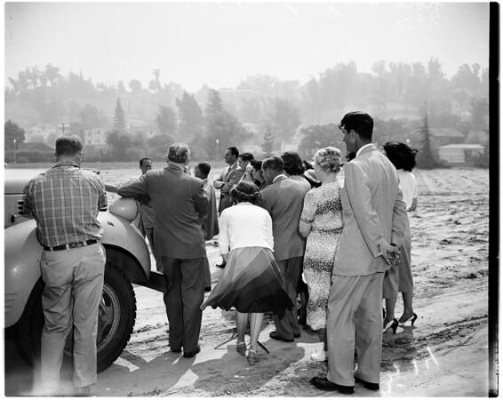 Low flying trial ...Silverlake area, 1952