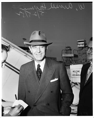 Harriman arrival at airport, 1952