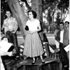 Whittier College students (peace talks), 1952