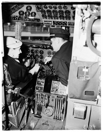 Old time aviatrix, 1952.