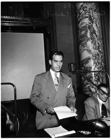 Los Angeles Housing dispute at City Council, 1952