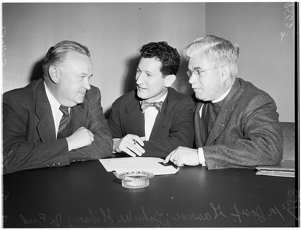 Displaced Persons press conference, 1952