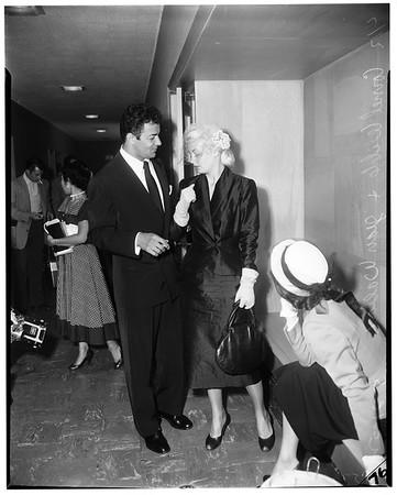 Jean Wallace Wilde ... Franchot Tone custody trial, 1952.