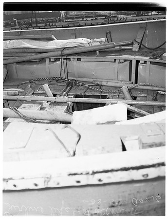 S.S. Lurline lifeboat drill accident at Berth 154, Wilmington, 1952