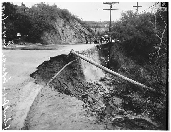 Storm in Topanga Canyon Boulevard, 1952