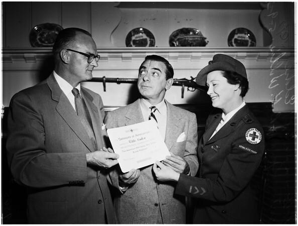 Red Cross Presentation, 1952