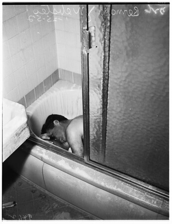 Apartment house fire death ...1970 1/4 South Robertson Boulevard,  1952