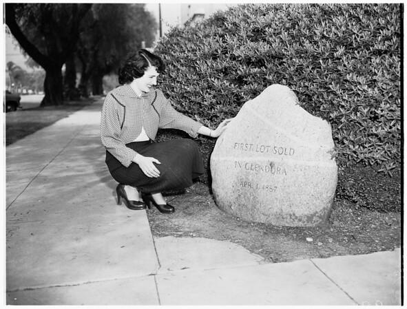 Azusa Pioneer landmark, 1952