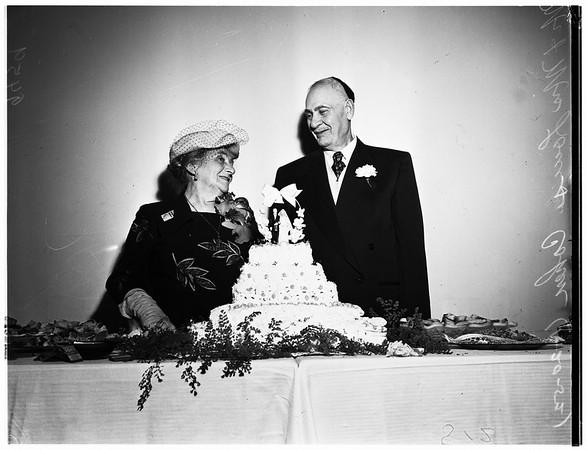 60th wedding anniversary, 1952