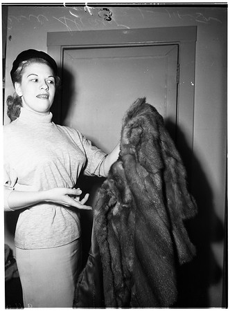 Small Claims mink coat trial, 1952