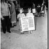 Children join housing demonstration -- El Sereno District, 1952