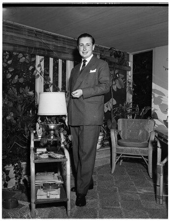 At the home of his mother, Lady Furness, 1951