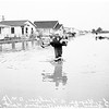 Flood ...Pioneer Boulevard in Artesia ...Pioneer Boulevard near Willis Street School, 1952