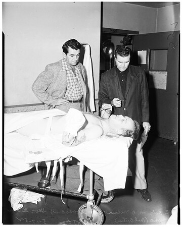 Dynamite victim... suspect, 1952