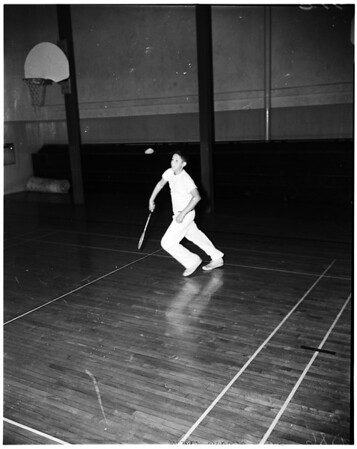 Pasadena High Schools badminton tournament, 1952