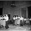 Folk dances at Los Angeles County Museum, 1952