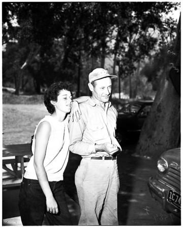 Lost in canyon ... Camp Rincon, San Gabriel Canyon, 1952