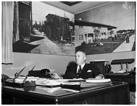 Magner White Series pictures ...City Housing Director and his assistant, 1952