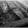 "USS ""Small"" new bow ...Long Beach Navy Shipyard (Terminal Island), 1952"
