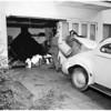 Storm damage at Laurel Canyon Boulevard, 1952