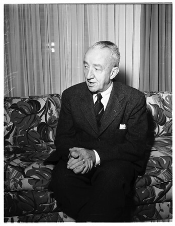 Interview at Beverly Hills Hotel, 1952