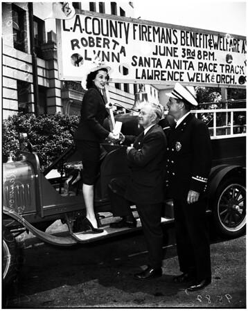 Los Angeles County firemen benefit ball, 1952