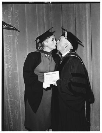 Honorary Bachelor of Secretarial Science dgeree, 1952