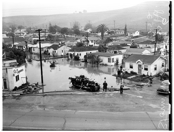 Storm...Monterey Pass Road, 1952