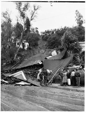 Storm... house slides at 2869 Glendale Boulevard, 1952