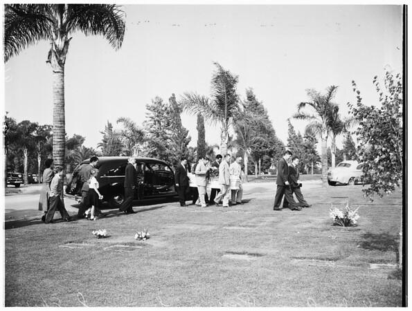 Ruby Ann Payne funeral, 1952