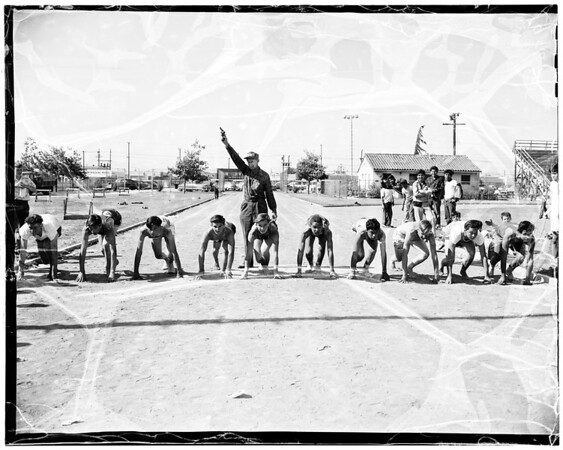 Catholic Youth Organization Junior Olympics at Rancho Cienega, 1952