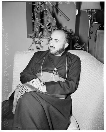 Church's head ... Assyrian Church leader here, 1952.