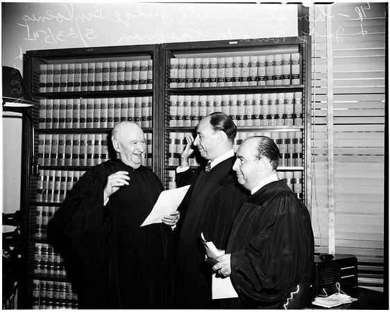 New judge, 1952