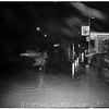 Flood conditions at Sepulveda Boulevard and West Slauson Avenue, and Centinela Avenue and Slauson Avenue, 1952