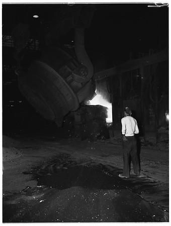 Kaiser Steel Mill in Fontana, 1952.