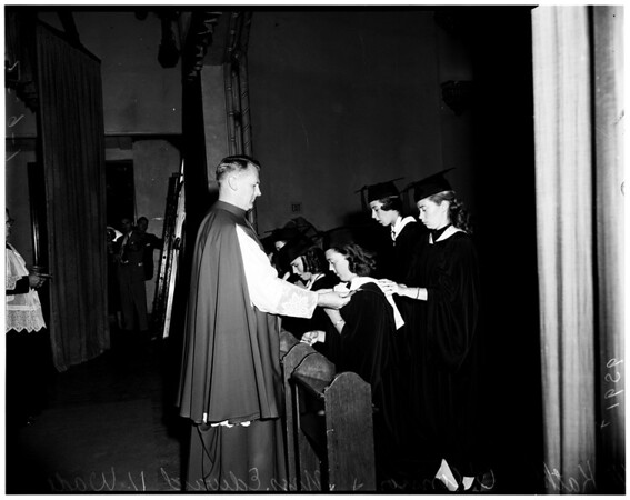 Immaculate Heart graduation, 1952