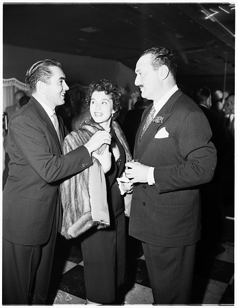 Party given by John Mills at Champion Room of Mocambo, 1951