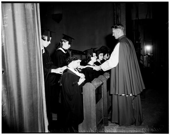 Immaculate Heart graduation, 1952