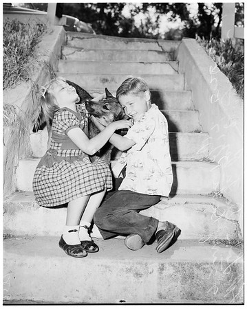 Lost kids ... went for walk, found in Arroyo Seco Park, 1952