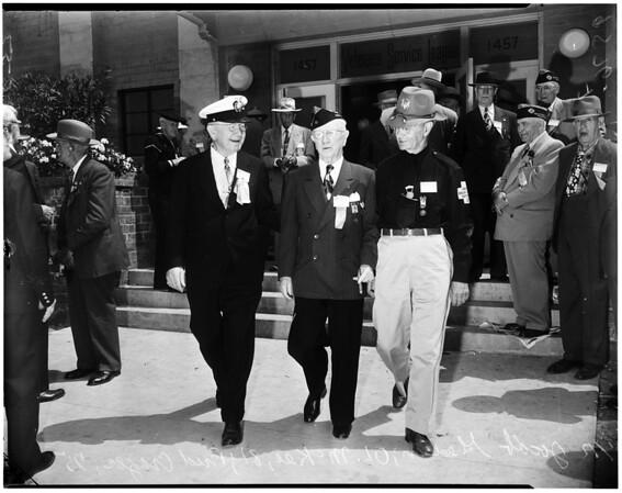 Spanish war veterans convention, 1952