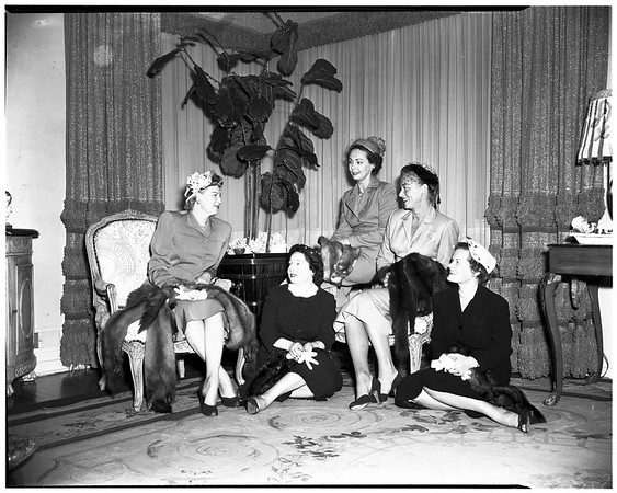 Flower guild women, 1952