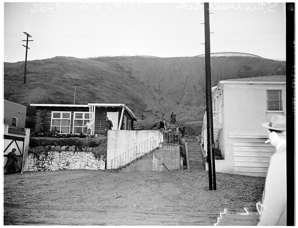 Storm damage at 4300 Block of Stillwell Avenue, Alhambra ...General views, 1952