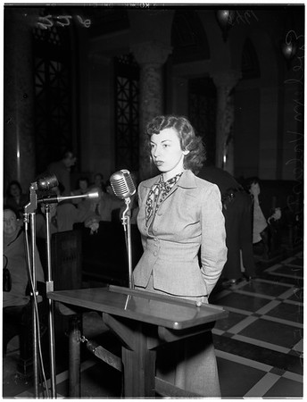 Flood hearing (City Council), 1952