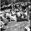 Pershing Square Displaced Persons(?) at MacArthur Park, 1952