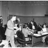 School board meeting, 1952