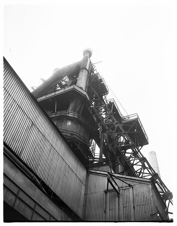 Kaiser Steel Mill in Fontana, Picture of plant and interiors, no personnel..., 1952.