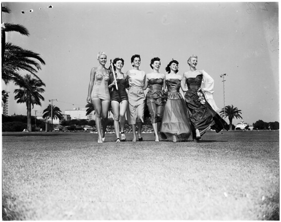 Wardrobe for winner of Miss Welcome Long Beach Contest, 1952